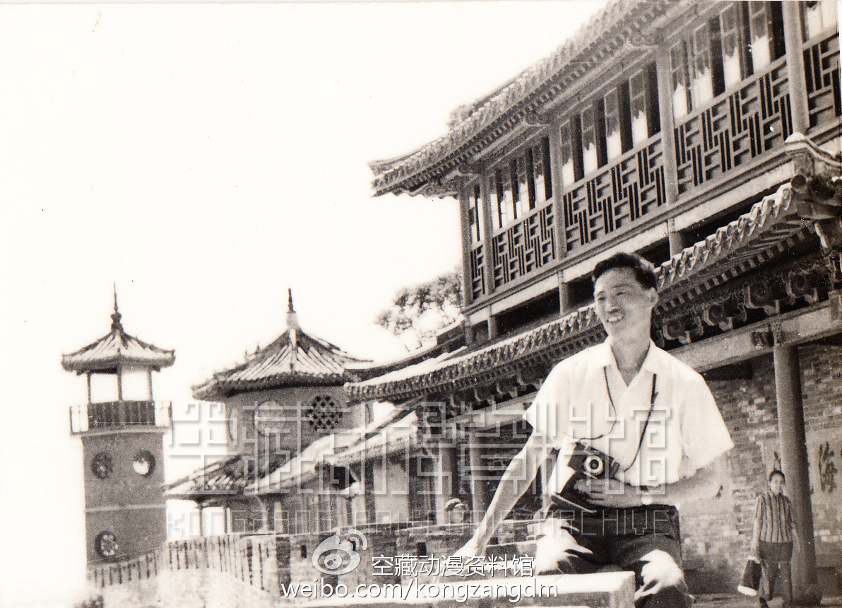 """陈光明在山东蓬莱阁""""下生活""""(1978年)"""
